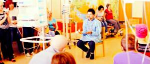 Danila at the Center of children's hematology