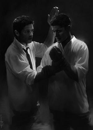 Dean and Castiel ✔
