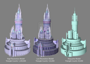 DiamondCastle 3D Model