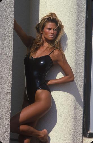 ক্রিস্টি ব্রিঙ্কলে দেওয়ালপত্র with a maillot, a leotard, and tights titled Diana Lyn photoshoot