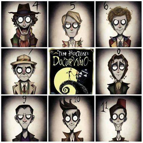 Tim Burton wallpaper with a stained glass window called Docter who