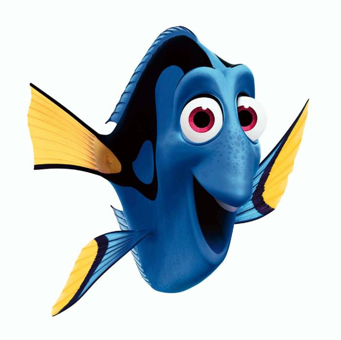 Dory from nemo quotes quotesgram for Picture of dory fish