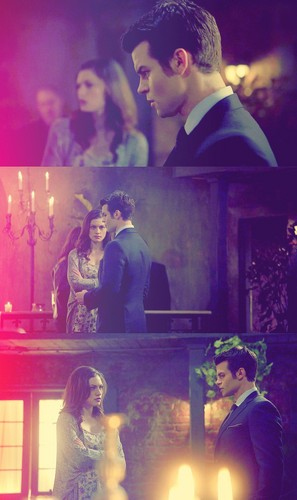 Elijah & Hayley Обои possibly with a fire, a candle, and a business suit entitled Elijah Mikaelson and Hayley Marshall