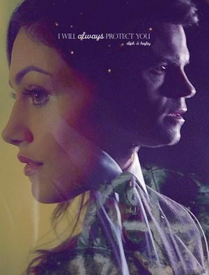 Elijah Mikaelson and Hayley Marshall
