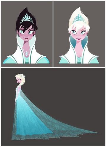 Elsa and Anna wallpaper titled Elsa Concept Art