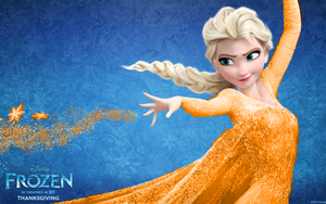 Elsa as The queen of آگ کے, آگ