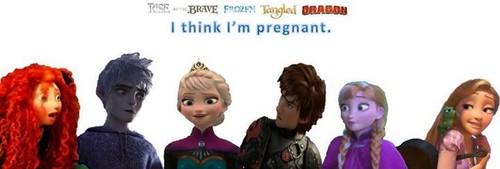 Rise of the 겨울왕국 메리다와 마법의 숲 라푼젤 용 바탕화면 titled Elsa is pregnant