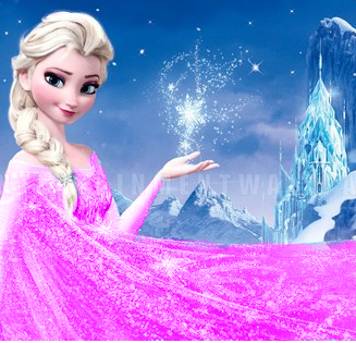 Frozen wallpaper entitled Elsa recoloured