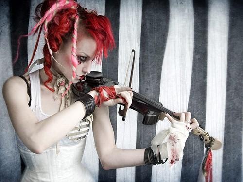 Emilie Autumn wallpaper containing a violist entitled Emilie Autumn