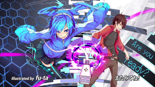 Mekaku City Actors wallpaper possibly with anime titled Ene x Shintaro