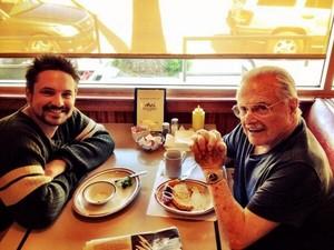 Eric Matthews and his beloved mentor FEENY! having breakfast