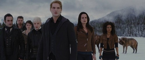 The Cullens wallpaper containing a fountain titled Esme and Carlisle