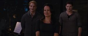Esme with Emmett and Carlisle