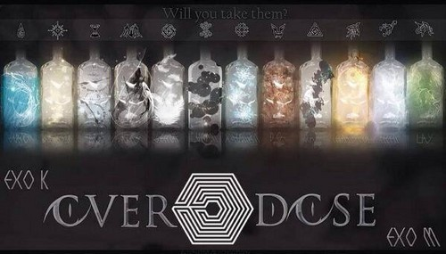 S.M.Entertainment wallpaper probably with a sign called Exo Overdose drink