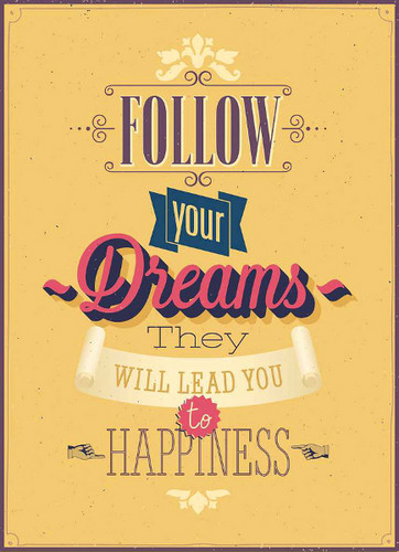 Quotes Wallpaper Titled Follow Your Dreams