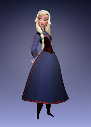 Frozen: Anna Alternative Design.