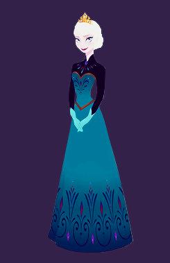 Nữ hoàng băng giá Concept Art bởi Brittney Lee