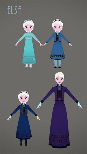 Frozen - Uma Aventura Congelante - Costume design