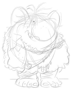 Frozen Troll Sketch