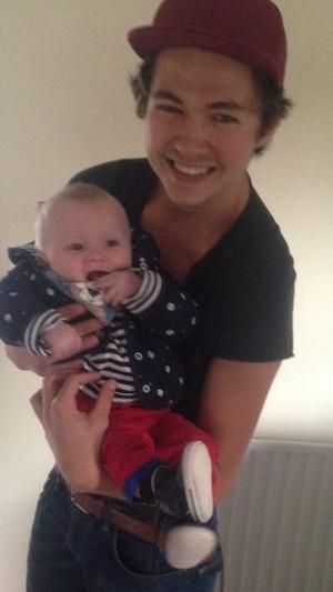 Damian in Ireland with his nephew Noah