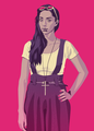 Game of Thrones 80/90s Era: Talisa Maegyr - game-of-thrones fan art
