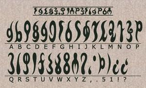 Gerudo Alphabet