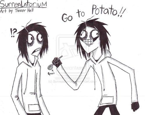 Jeff the killer Обои with Аниме called Go to Potato