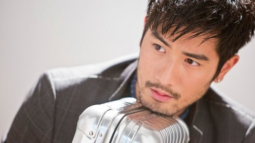Godfrey Gao wallpaper containing a business suit entitled Godfrey for Brand Magazine