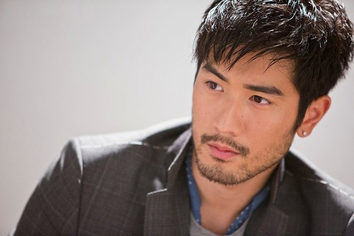 Godfrey Gao wallpaper probably containing a business suit and a suit called Godfrey for Brand Magazine