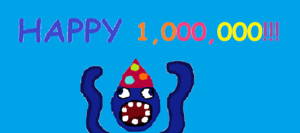 HAPPY 1,000,000 SQUIDOODLY!!!!!!!