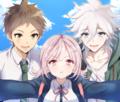 Hajime, Nanami, and Komaeda