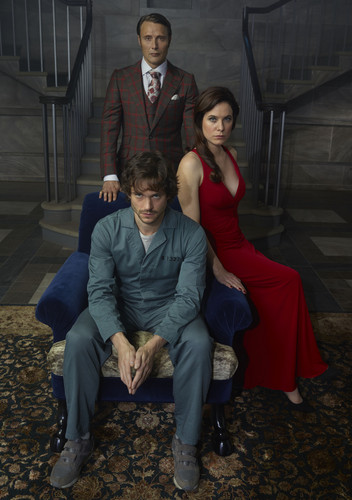 Hannibal TV Series wallpaper containing a business suit, a well dressed person, and a suit entitled Hannibal Lecter, Alana Bloom and Will Graham