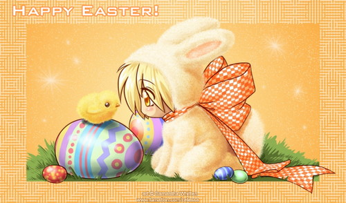 Happy Easter All My fan wallpaper probably containing Anime called Happy Easter