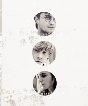 Harry, Hermione, Ron