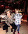 Harry with a fan today ♥              - one-direction photo
