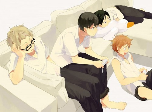 Haikyuu!!(High Kyuu!!) 壁纸 possibly with a well dressed person titled Hinata, Kageyama, Tsukishima, and Tadashi