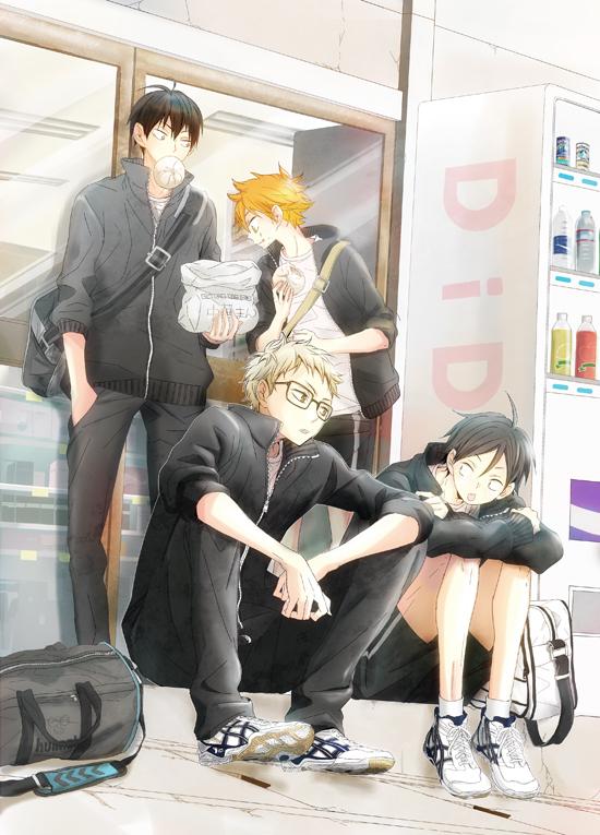 Hinata, Kageyama, Tsukishima, and Tadashi