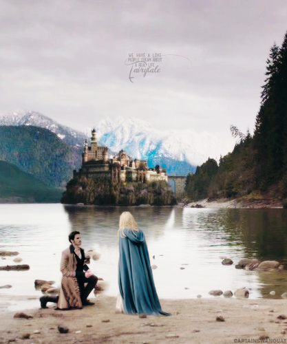 once upon a time fondo de pantalla called Hook and Emma