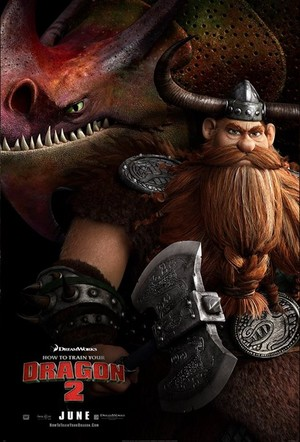 How To Train Your Dragon 2 Poster - Stoick and Skullcrusher