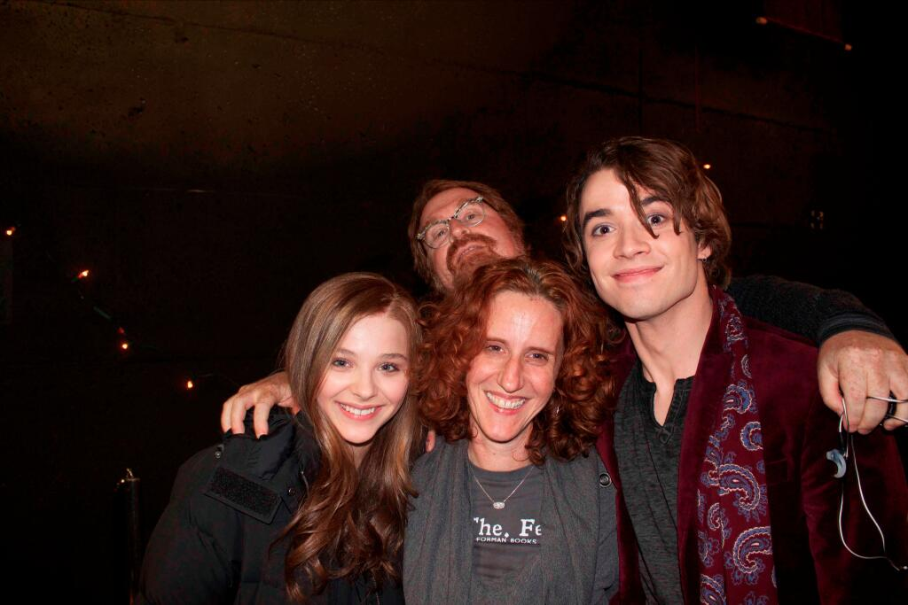 Chloe Grace Moretz And Jamie Blackley With Gayle Forman If I Stay