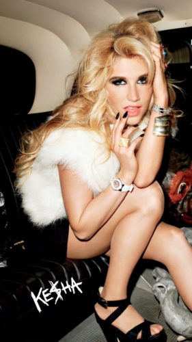 Ke$ha wallpaper probably with bare legs and an automobile called It's Party Time (More Kesha Pics)