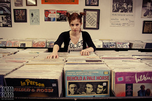 Izzy at the Record Store