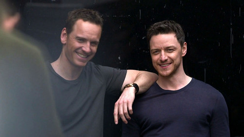 James McAvoy and Michael Fassbender 壁紙 entitled James and Michael ☆