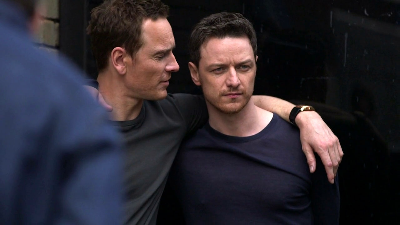 James McAvoy and Michael Fassbender James and Michael    James Mcavoy Michael Fassbender