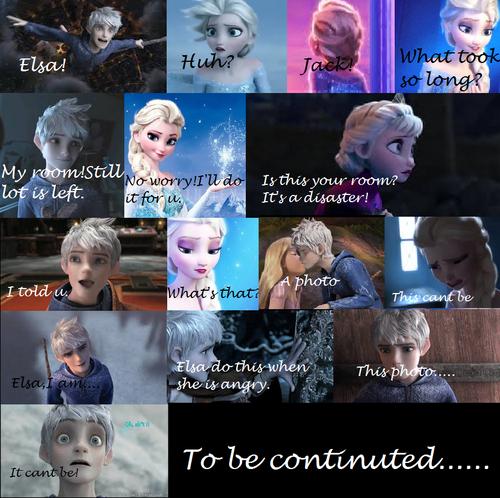 Elsa & Jack Frost karatasi la kupamba ukuta called Jelsa comic no.2