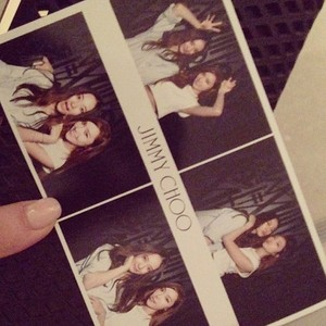 Jessica and f(x)'s Krystal's Attend Photoshoot for Jimmy Choo in L.A.