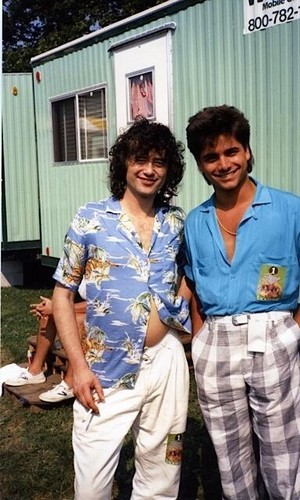 Jimmy Page and John Stamos