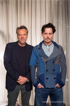 Johnny and Wally Pfiste (Transcendence Press Junket Mar 2014)