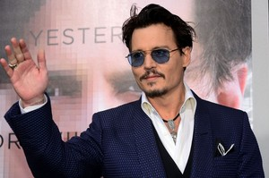 Johnny at Transcendence Premiere LA (10/04/2014)