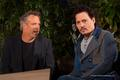 Johnny and Wally Pfiste (Transcendence Press Junket Mar 2014) - johnny-depp photo